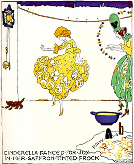 How Cinderella Was Able To Go to the Ball illustrated by Jessie M King 1924